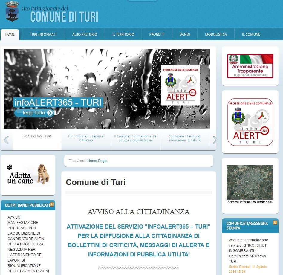 Infoalert365 Comune di Turi