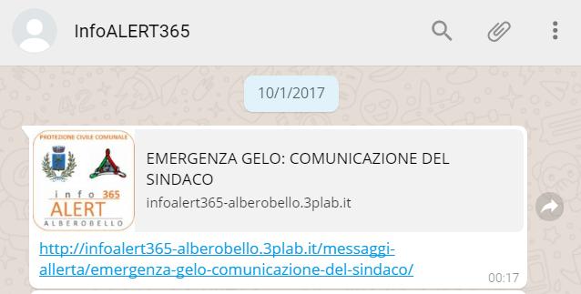 Comunicazione del Sindaco di Alberobello