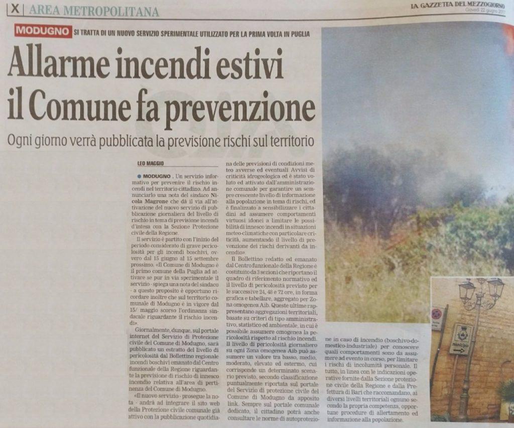 Gazzetta-del-Mezzogiorno-22-giugno-2017-bollettino-incendi-boschivi