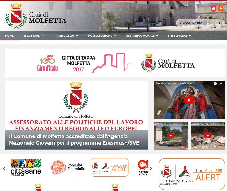infoALERT365 integrato nei servizi del portale istituzionale del Comune di Molfetta